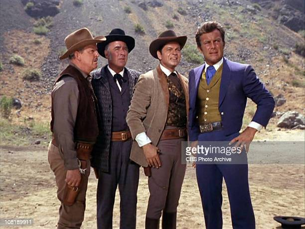 Alan Baxter as Sheriff Ned Briggs Peter Lawford as Carl Jackson Ross Martin as Artemus Gordon and Robert Conrad as James T West in The Night of the...