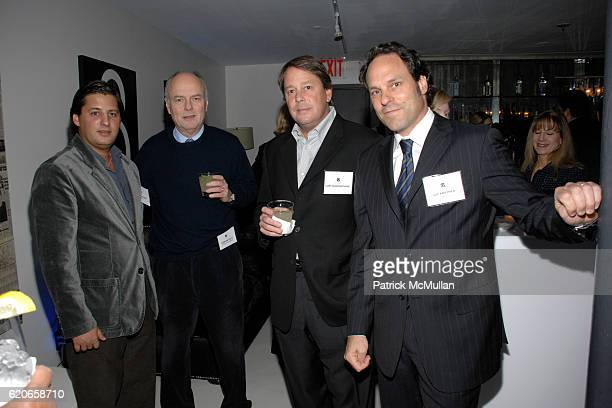 Alan Becker Gordon Mott Curt Boisfontaine and Gil Kastner attend NIZUC Resort and Residences Preview Opening at Soho House on January 22 2008 in New...