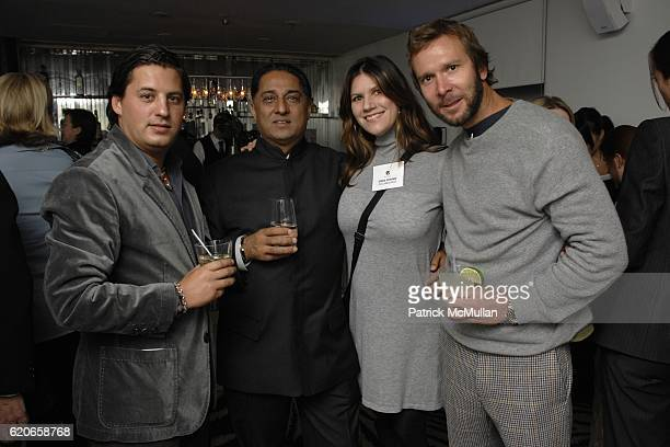 Alan Becker Manvinder Puri Gina Lovino and Nathan Browning attend NIZUC Resort and Residences Preview Opening at Soho House on January 22 2008 in New...