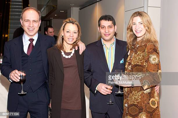 Alan Behr Julie Behr Sarr Banin and Lisa Banin attend Sotheby's Mouton Rothschild Opening Party Invitation at Sotheby's 72nd on February 23 2007 in...