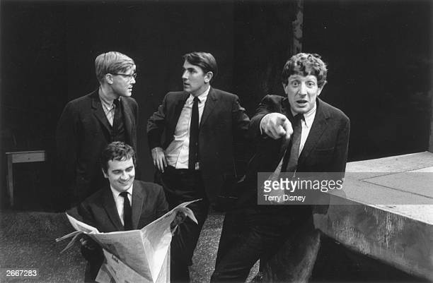 Alan Bennett Peter Cook Dudley Moore and Jonathan Miller authors and performers of the revue 'Beyond the Fringe'