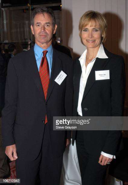 Alan Berger and Willow Bay during The Hollywood Radio and Television Society's Cable Chiefs Luncheon Featuring Moderator Willow Bay at The Beverly...