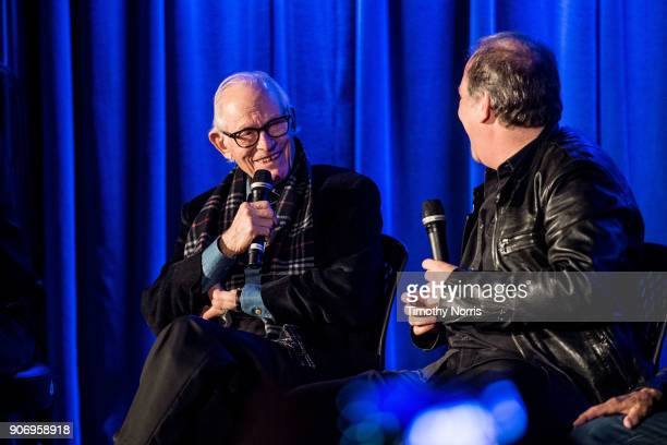 Alan Bergman and Danny Gold speak at The GRAMMY Museum on January 18 2018 in Los Angeles California