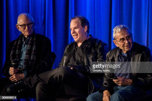 Alan Bergman Danny Gold and George Shapiro speak at The GRAMMY Museum on January 18 2018 in Los Angeles California