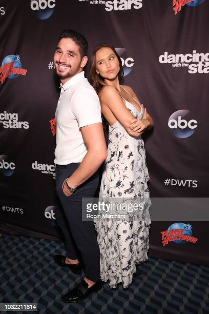 Alan Bersten and Alexis Ren attend Dancing With The Stars Season 27 Cast Reveal Red Carpet At Planet Hollywood Times Square at Planet Hollywood Times...
