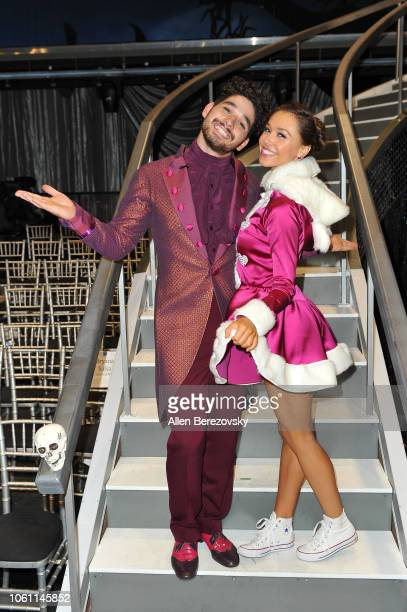 Alan Bersten and Alexis Ren pose at 'Dancing with the Stars' Season 27 at CBS Televison City on October 29 2018 in Los Angeles California