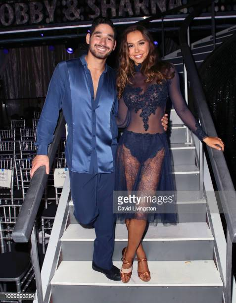 Alan Bersten and Alexis Ren pose at 'Dancing with the Stars' Season 27 Finale at CBS Television City on November 19 2018 in Los Angeles California
