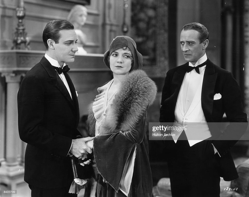 Alan Birmingham, Lois Wilson (1895-1988) and H B Warner (1876-1958) star in the First National film 'The Furies', based on a stage play.