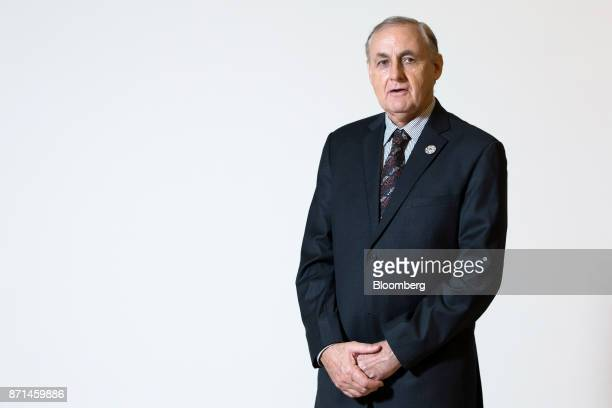 Alan Bollard executive director of AsiaPacific Economic Cooperation poses for a photograph following a Bloomberg Television interview at the APEC CEO...