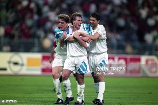 Alan BOSKIC / Didier DESCHAMPS / Jean Christophe THOMAS Milan AC / Marseille Finale de la Ligue des Champions 1993 Photo Alain Gadoffre / Icon Sport