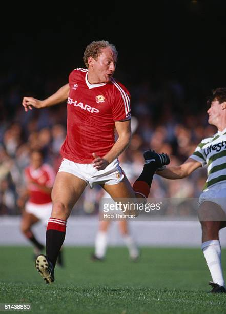 Alan Brazil in action for Manchester United during their preseason match against Shamrock Rovers in Dublin 5th August 1984 Manchester United won 20