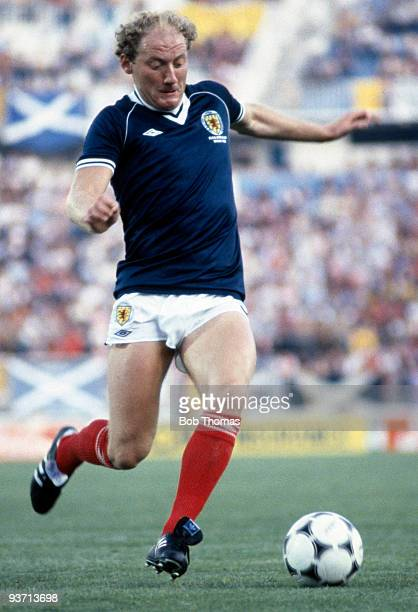 Alan Brazil of Scotland during the Scotland v New Zealand World Cup match held in Malaga Spain on the 15th of June 1982 Scotland won 52
