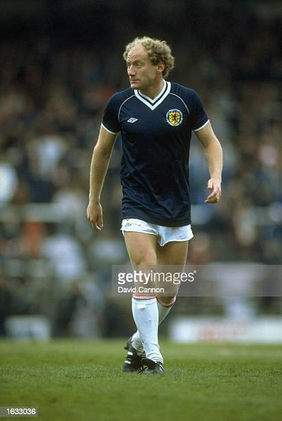 Alan Brazil of Scotland in action during a match against Wales at Ninian Park in Cardiff Wales Mandatory Credit David Cannon/Allsport