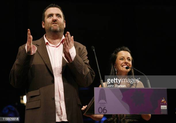 Alan Brough and Myf Warhurst during 2006 APRA AGSC Screen Awards at Recital Hall in Sydney NSW Australia