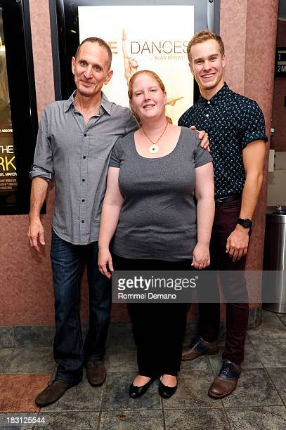 Alan Brown Agathe DavidWeill and Ryan Steele attend 'Five Dances' New York Premiere at Cinema Village on October 4 2013 in New York City