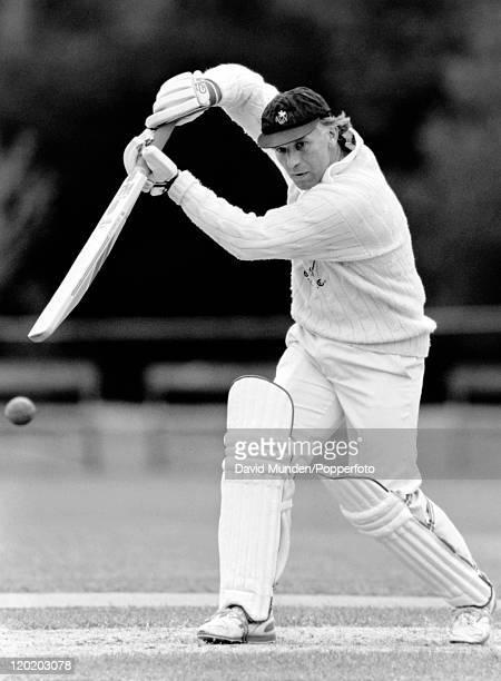 Alan Butcher batting for Glamorgan, circa 1990.