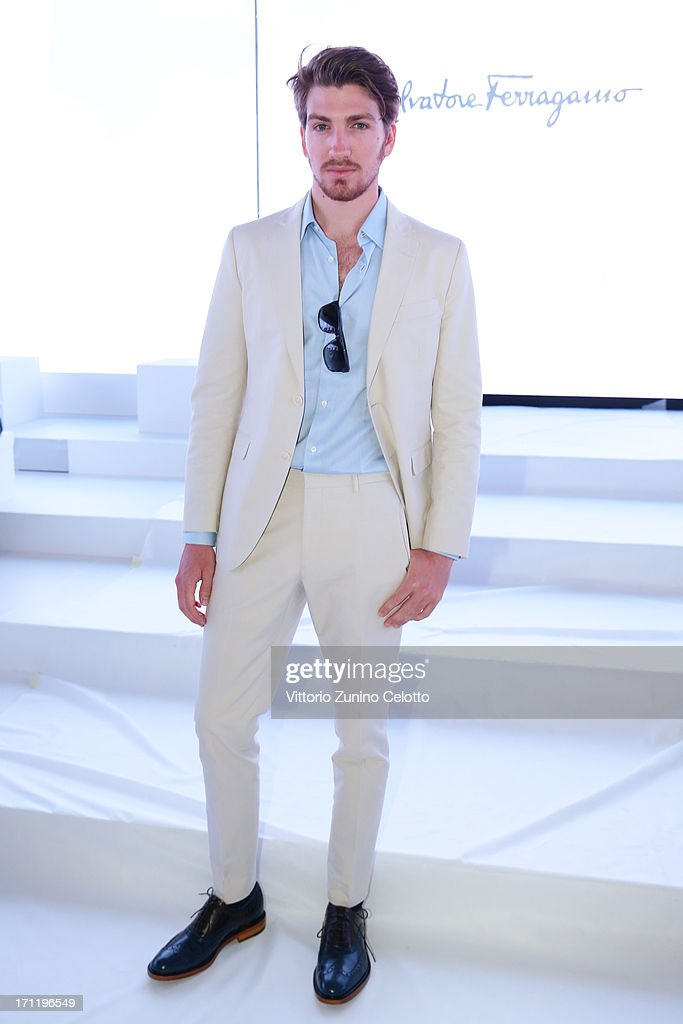 Alan Cappelli attends the Salvatore Ferragamo show during Milan Menswear Fashion Week Spring Summer 2014 on June 23, 2013 in Milan, Italy.