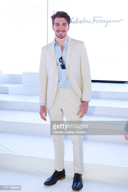 Alan Cappelli attends the Salvatore Ferragamo show during Milan Menswear Fashion Week Spring Summer 2014 on June 23 2013 in Milan Italy