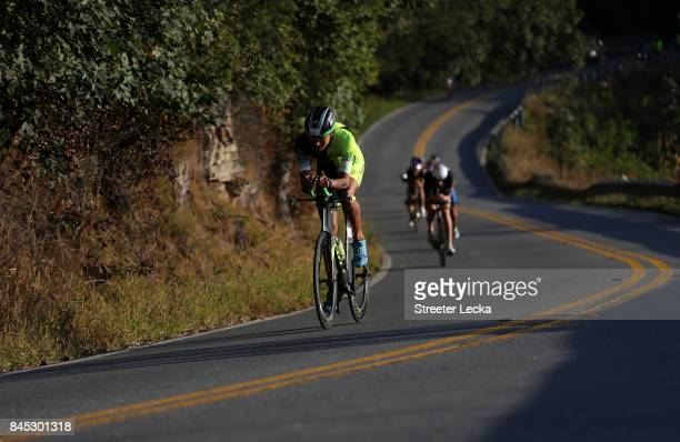 Alan Carillo Avila of Mexico competes in the IRONMAN 703 Men's World Championship on September 10 2017 in Chattanooga Tennessee