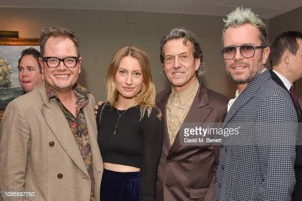 Alan Carr, Amy Webster, Stephen Webster and Paul Drayton attend the Leopards' Prince's Trust Mentorship Programme Winners Champagne Reception at...