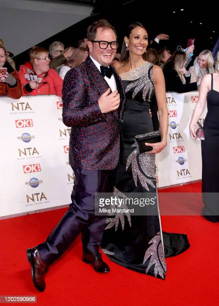 Alan Carr and Christine Lampard attend the National Television Awards 2020 at The O2 Arena on January 28 2020 in London England