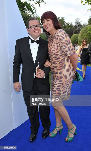 Alan Carr and Janet Street Porter attend The 11th Annual White Tie and Tiara Ball to Benefit the Sir Elton John Aids Foundation in association with...