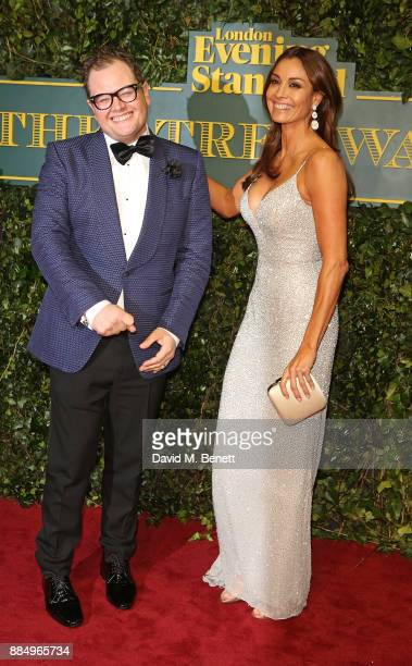 Alan Carr and Melanie Sykes attend the London Evening Standard Theatre Awards at Theatre Royal on December 3 2017 in London England