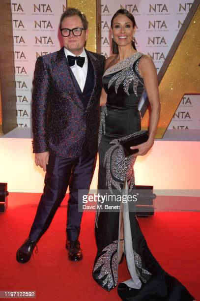 Alan Carr and Melanie Sykes attend the National Television Awards 2020 at The O2 Arena on January 28, 2020 in London, England.