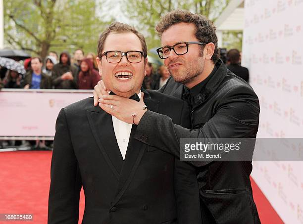 Alan Carr and Paul Drayton attend the Arqiva British Academy Television Awards 2013 at the Royal Festival Hall on May 12 2013 in London England