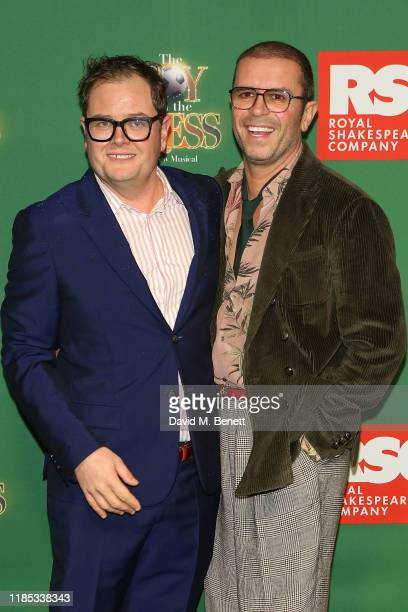 Alan Carr and Paul Drayton attend the press night performance of The Boy In The Dress at Royal Shakespeare Theatre on November 28 2019 in...