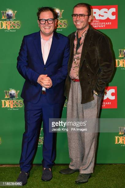 Alan Carr and Paul Drayton attending the opening night of the Boy In The Dress at the Royal Shakespeare Company in Stratford Upon Avon