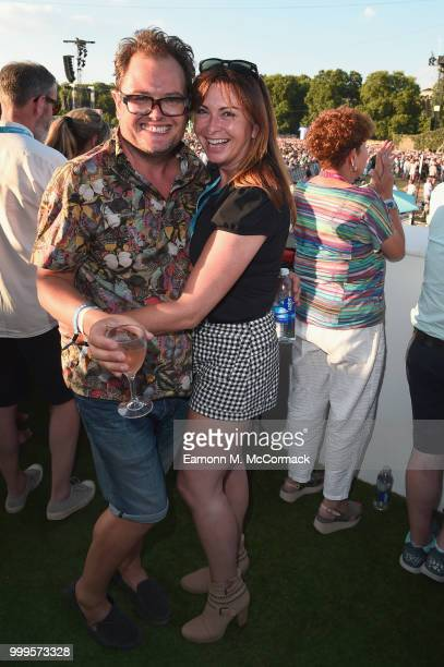 Alan Carr and Suzi Perry attend as Barclaycard present British Summer Time Hyde Park at Hyde Park on July 15 2018 in London England