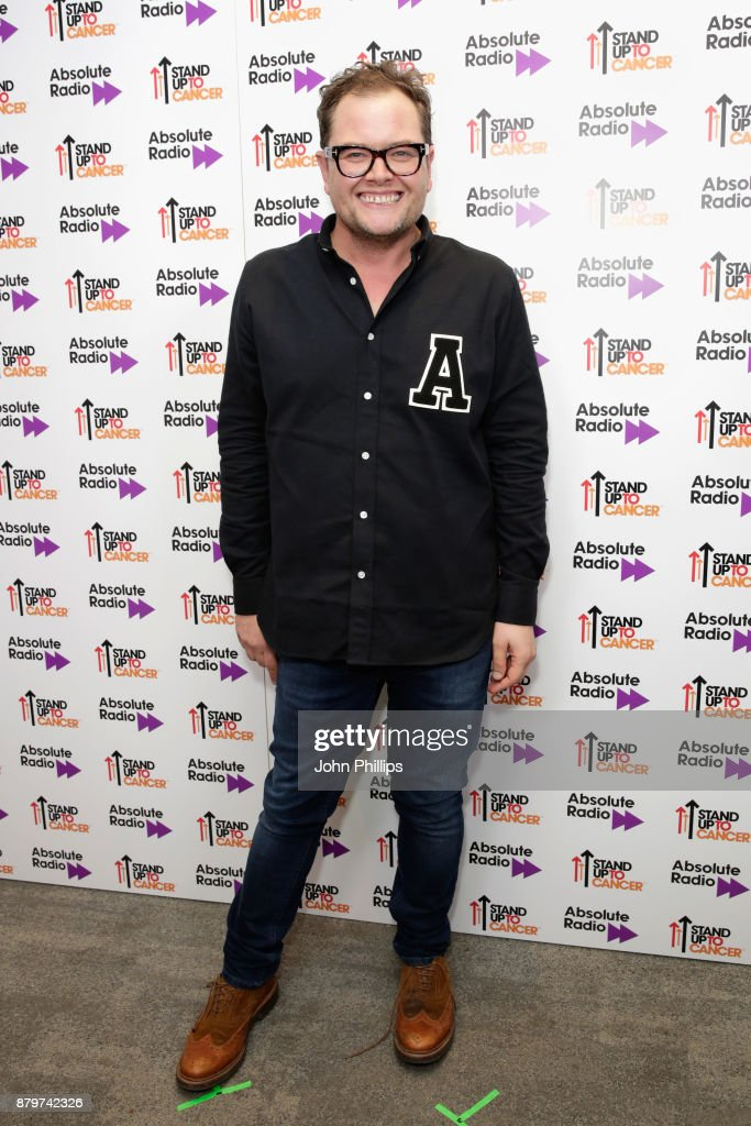 Alan Carr backstage at Absolute Radio Live in aid of Stand Up To Cancer at London Palladium on November 26, 2017 in London, England.