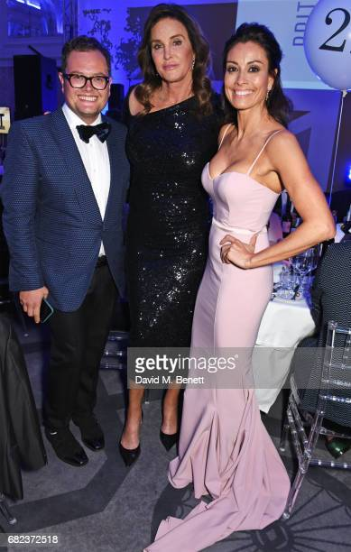 Alan Carr Caitlyn Jenner and Melanie Sykes attend the British LGBT Awards at The Grand Connaught Rooms on May 12 2017 in London England
