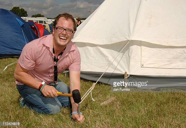 Alan Carr in the Virgin Mobile Louder Lounge at the V Festival