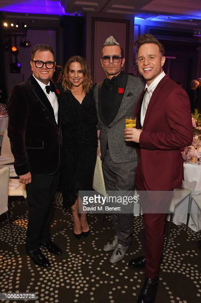 Alan Carr, Melanie C, Paul Drayton and Olly Murs attend The 9th Annual Global Gift Gala held at The Rosewood Hotel on November 2, 2018 in London,...
