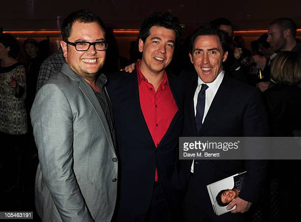 Alan Carr, Michael McIntyre and Rob Brydon attend the book launch for Michael McIntyre's autobiography 'Life And Laughing' at Sketch on October 14,...