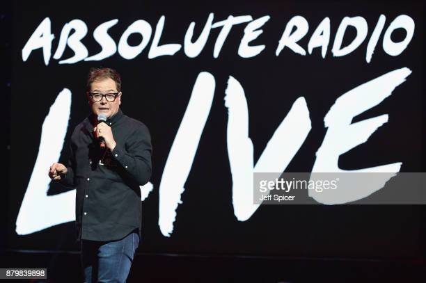 Alan Carr performs at Absolute Radio Live in aid of Stand Up To Cancer at London Palladium on November 26 2017 in London England