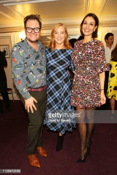 Alan Carr SarahJane Mee and Melanie Sykes attend 'La Boheme' at the English National Opera on January 29 2019 in London England