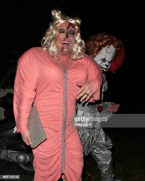 Alan Carr seen attending Jonathan Ross Halloween party on October 31 2017 in London England