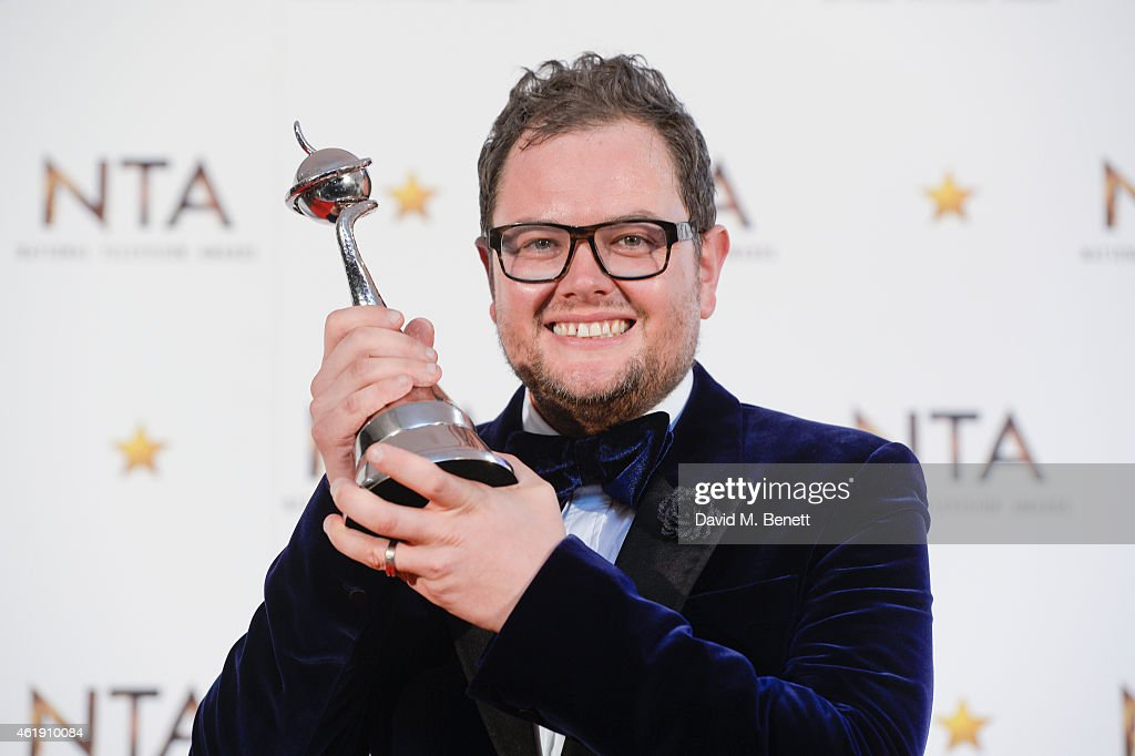 Alan Carr, winner of Best Chat show award, poses in the winners room at the National Television Awards at 02 Arena on January 21, 2015 in London, England.