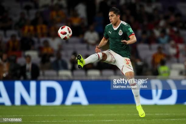 Alan Cervantes of CD Guadalajara during the FIFA Club World Cup UAE 2018 5th Place Match between ES Tunis and CD Guadalajara at Hazza Bin Zayed...