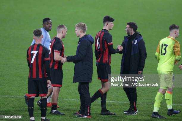 Alan Connell of Bournemouth at the end of his side's 41 defeat during the FA Youth Cup match between AFC Bournemouth U18 and Manchester City U18 at...