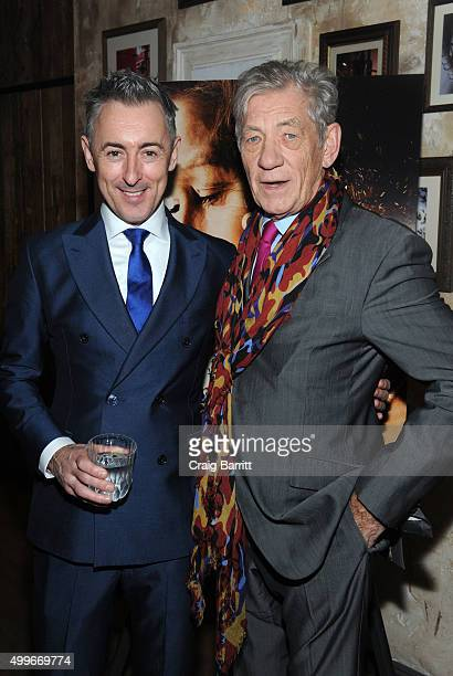 Alan Cumming and and Sir Ian McKellen attend the Women In Gold cocktail reception at Elyx House New York on December 2 2015 in New York City