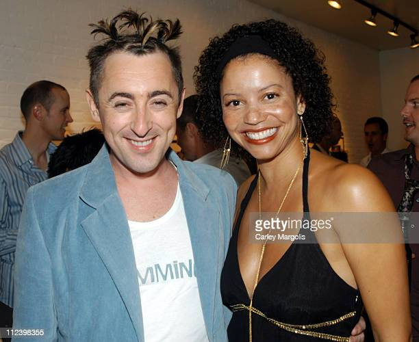 Alan Cumming and Gloria Reuben during Exhibition of 'Photos of Alan Cumming' by Steve Vaccariello for the Launch of 'Cumming the Fragrance' at Space...