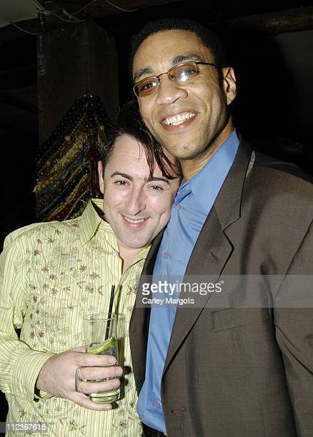 Alan Cumming and Harry J. Lennix during Celebrities in Town for UpFronts Attend Bunny Chow Tuesdays at Cain - May 17, 2005 at Cain in New York City,...