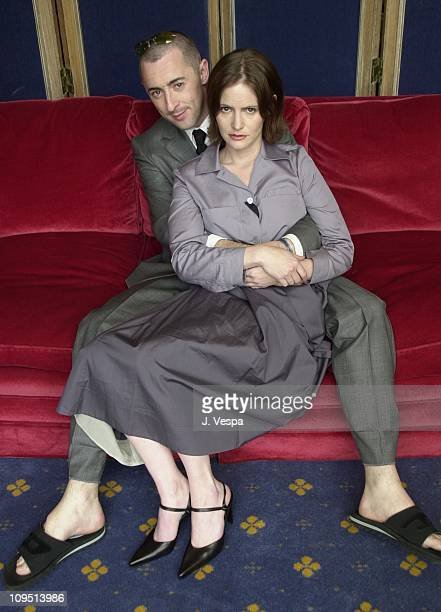 Alan Cumming and Jennifer Jason Leigh during Cannes 2001 Anniversary Party Portraits at Carlton Hotel in Cannes France
