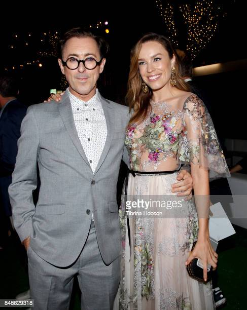 Alan Cumming and Jessica McNamee attend the premiere of Fox Searchlight Pictures 'Battle Of The Sexes' after party at Regency Village Theatre on...