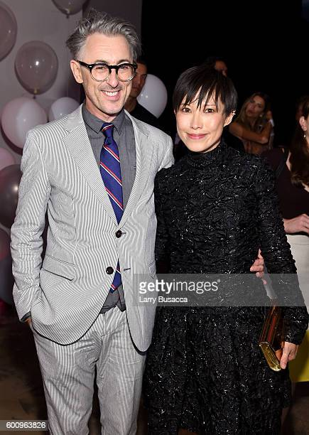 Alan Cumming and Jimmy Choo Creative Director Sandra Choi attend the Jimmy Choo 20th Anniversary Event during New York Fashion Week on September 8...