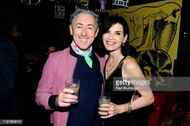 Alan Cumming and Julianna Margulies attend SAGAFTRA Hosts A Dinner To Commemorate The 50th Anniversary Of Stonewall on June 24 2019 in New York City